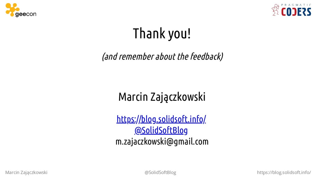 Thank you! (and remember about the feedback) Ma...