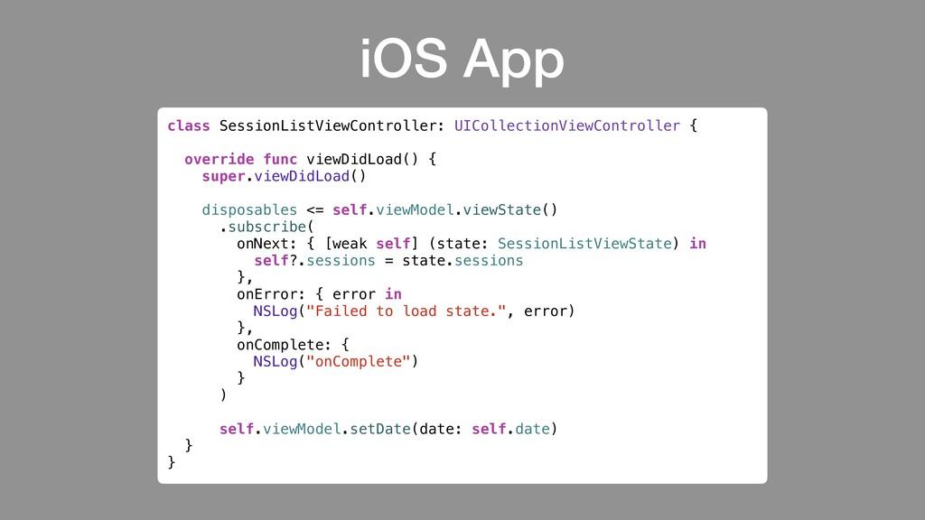 #DCNYC19 @rharter iOS App .subscribe( onNext: {...