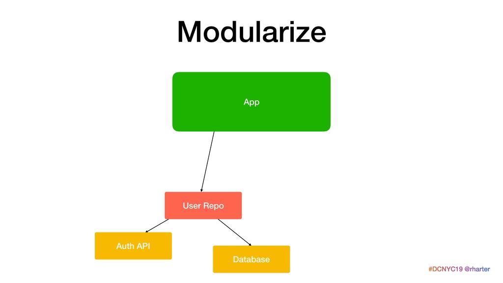 #DCNYC19 @rharter Modularize Auth API Database ...
