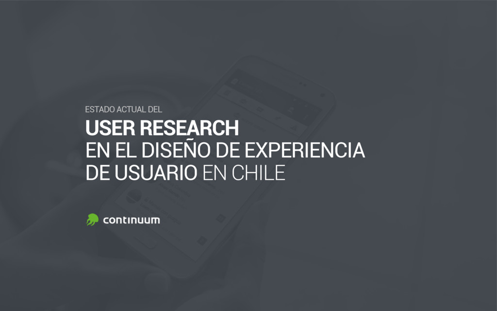 USER RESEARCH EN EL DISEÑO DE EXPERIENCIA DE U...