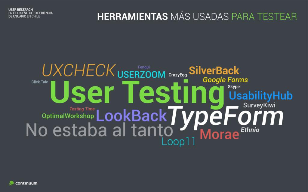 User Testing USER RESEARCH EN EL DISEÑO DE EXP...