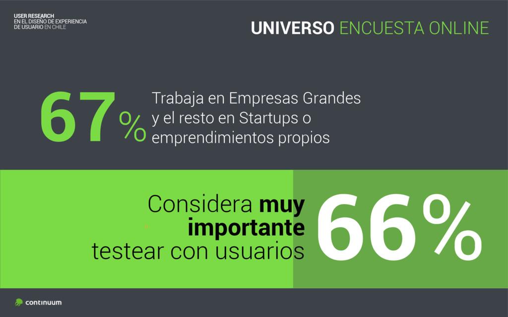 º 67%Trabaja en Empresas Grandes y el resto en ...
