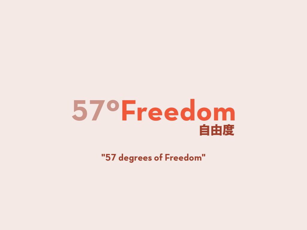 """57ºFreedom ࣗ༝ """"57 degrees of Freedom"""""""
