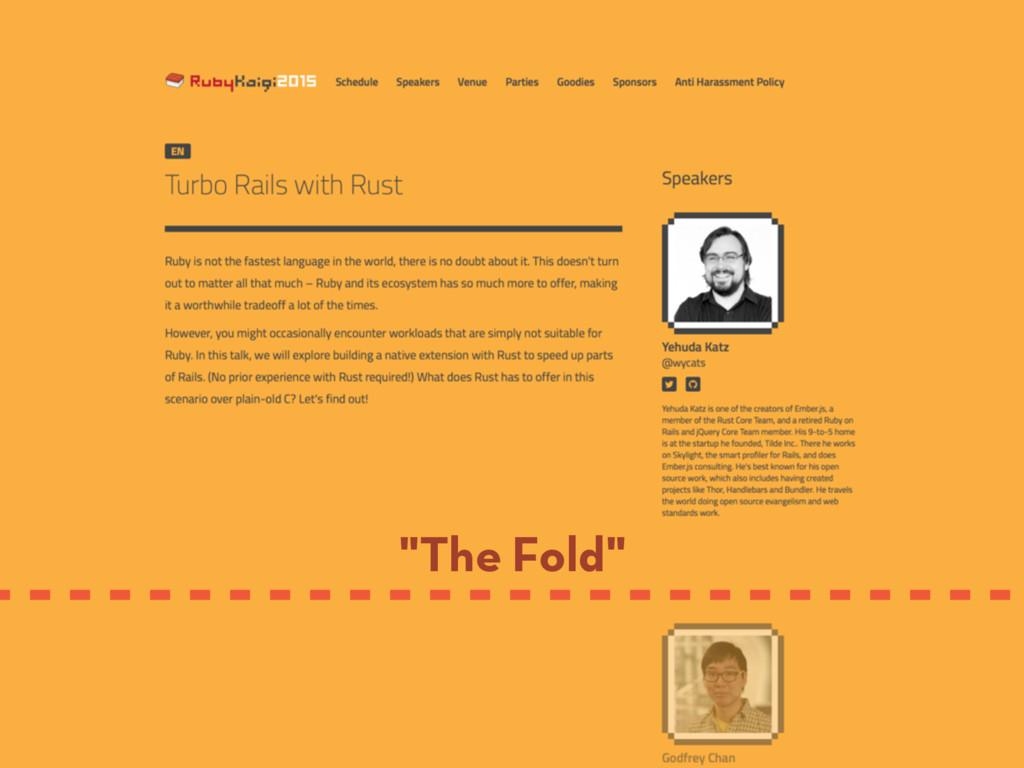 """""""The Fold"""""""