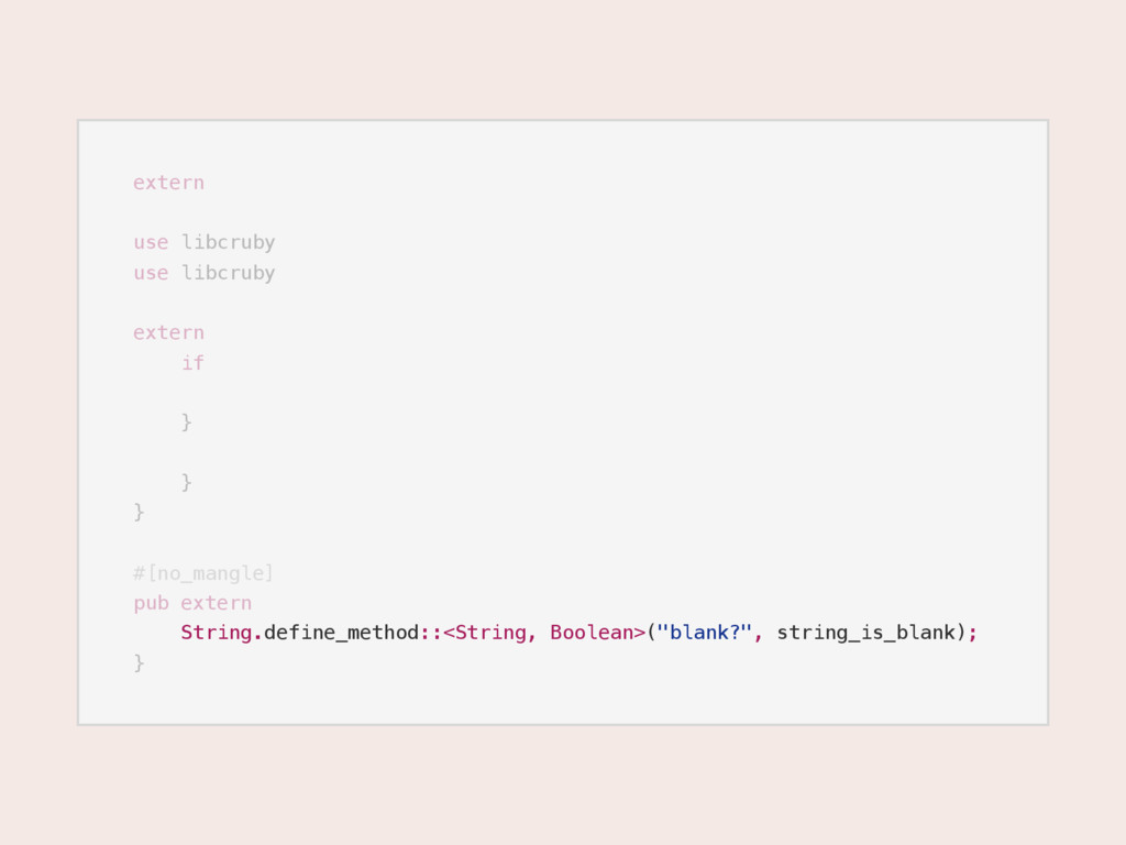 extern use libcruby use libcruby extern if } } ...