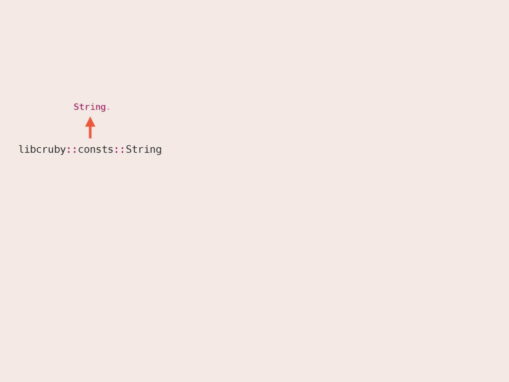 String. String libcruby::consts::String