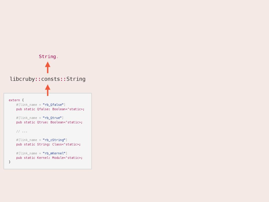 "String. String extern { #[link_name = ""rb_Qfals..."