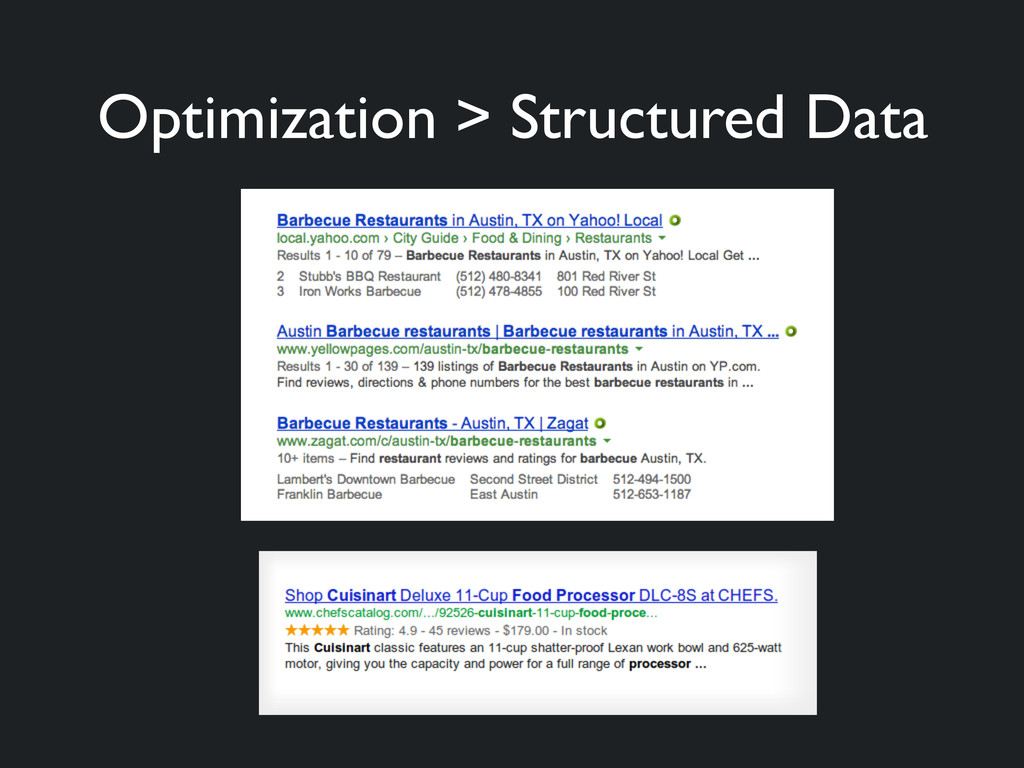 Optimization > Structured Data