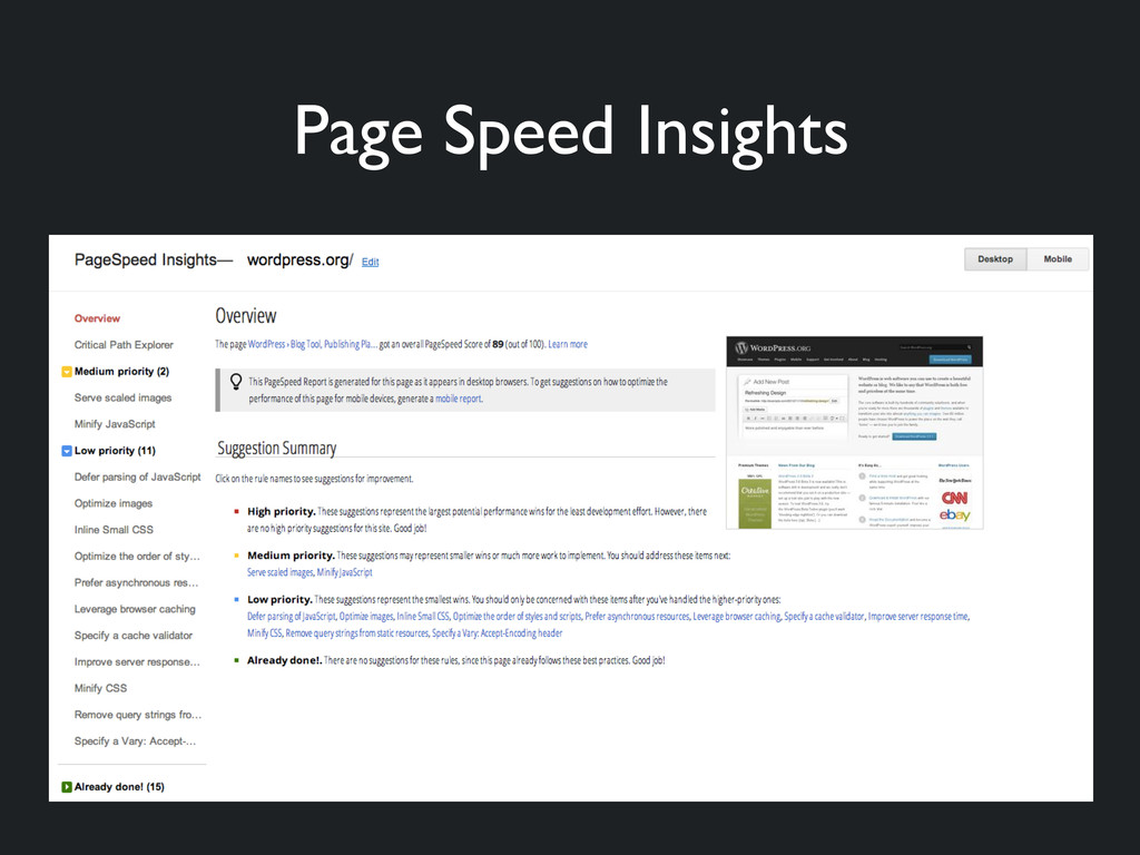 Page Speed Insights