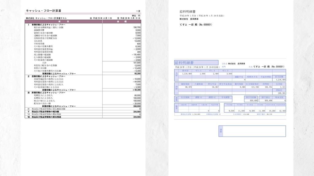 1 頁 キャッシュ・フロー計算書 株式会社 キャッシュ・フロー計算書テスト 単位 : 円 自 ...