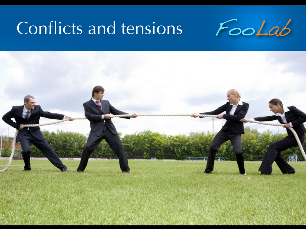 FooLab Conflicts and tensions