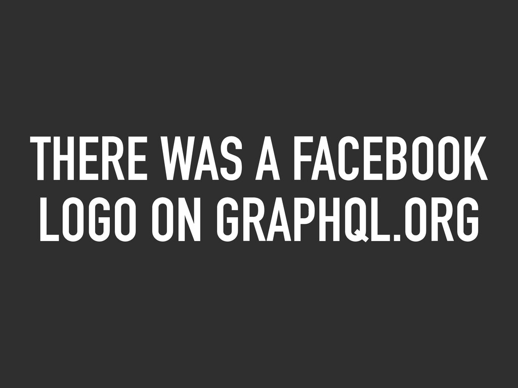 THERE WAS A FACEBOOK LOGO ON GRAPHQL.ORG
