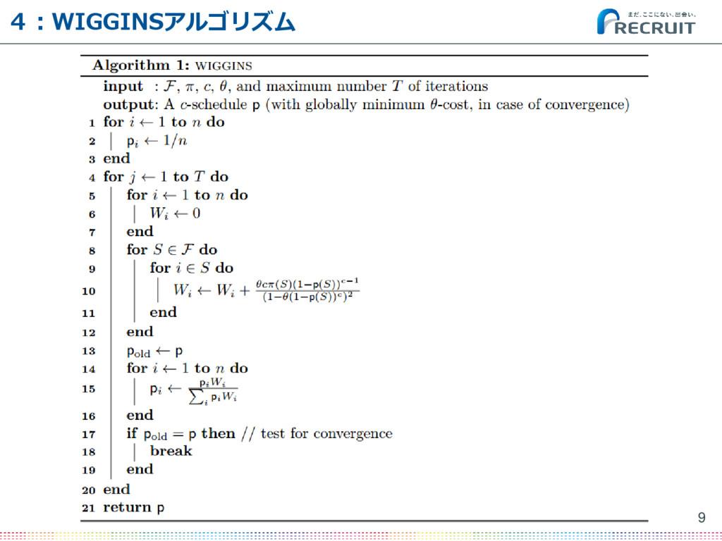 4:WIGGINSアルゴリズム 9