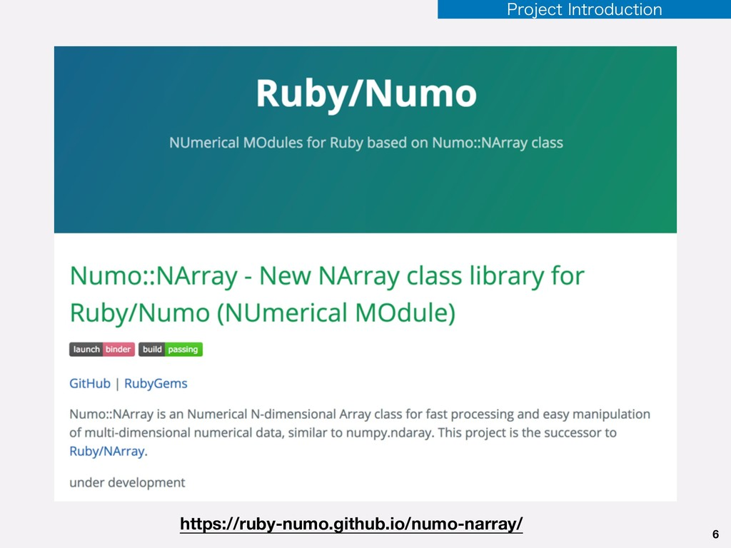 6 https://ruby-numo.github.io/numo-narray/ 1SPK...