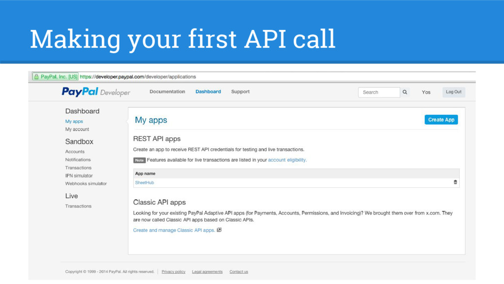 Making your first API call