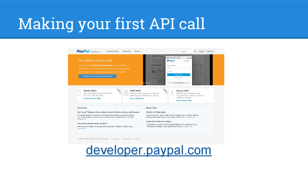 Making your first API call developer.paypal.com