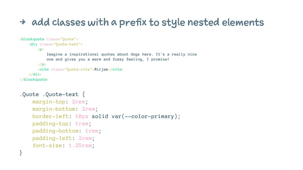 4 add classes with a prefix to style nested ele...