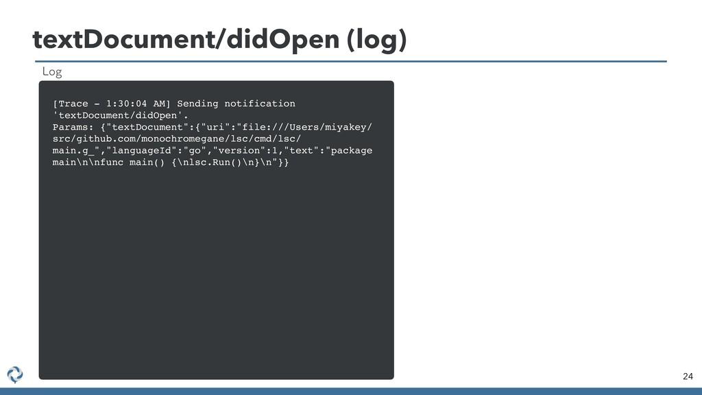 textDocument/didOpen (log) 24 [Trace - 1:30:04 ...