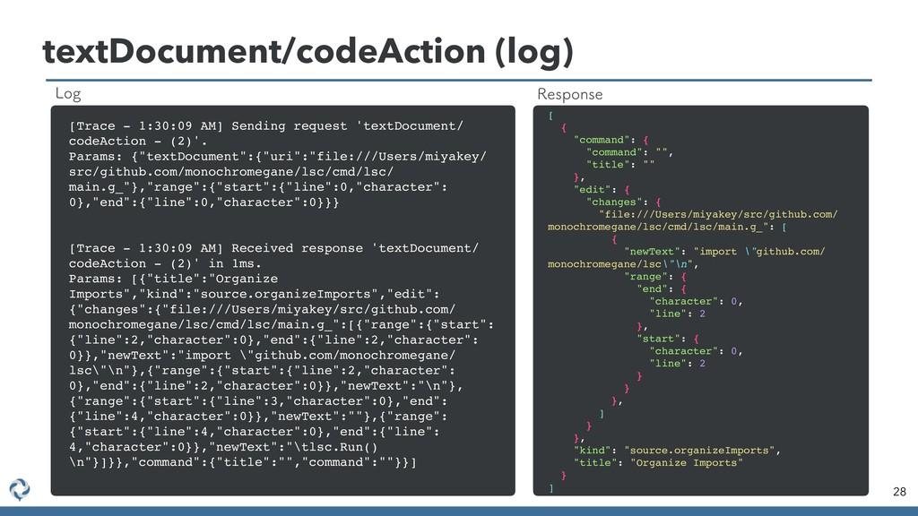 textDocument/codeAction (log) 28 [Trace - 1:30:...