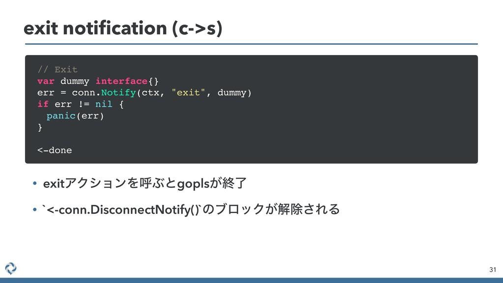 31 exit notification (c->s) • exitΞΫγϣϯΛݺͿͱgopls...