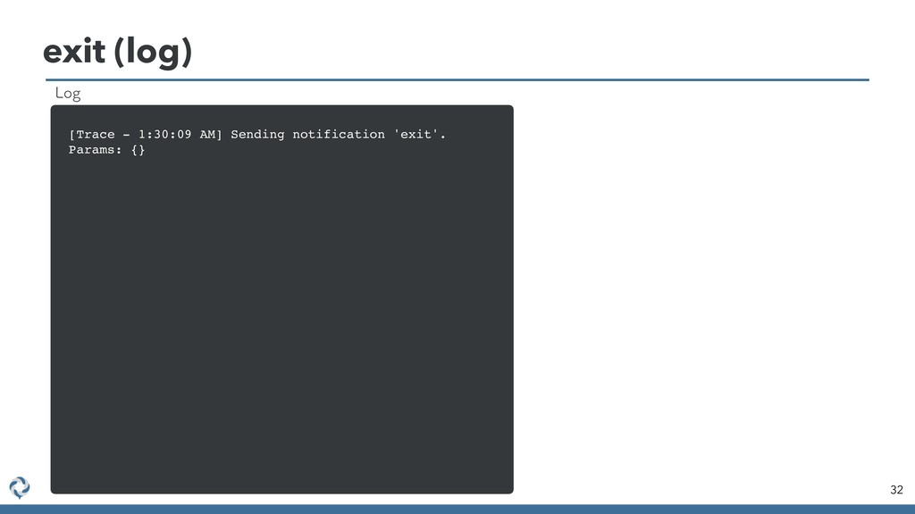 exit (log) 32 [Trace - 1:30:09 AM] Sending noti...
