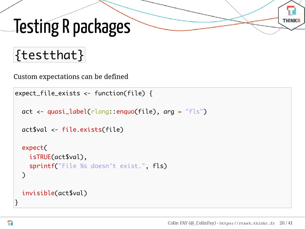 Testing R packages {testthat} Custom expectatio...
