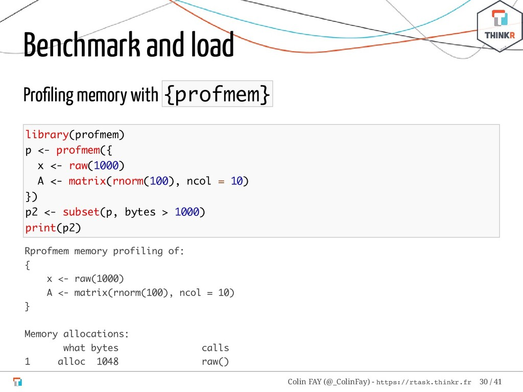 Benchmark and load Profiling memory with {profme...