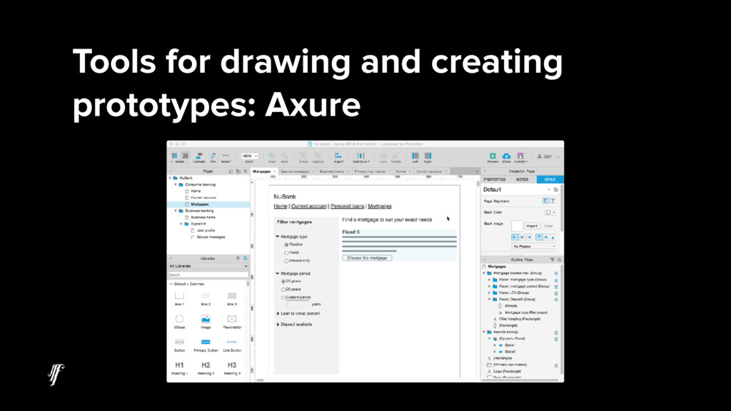 Tools for drawing and creating prototypes: Axure
