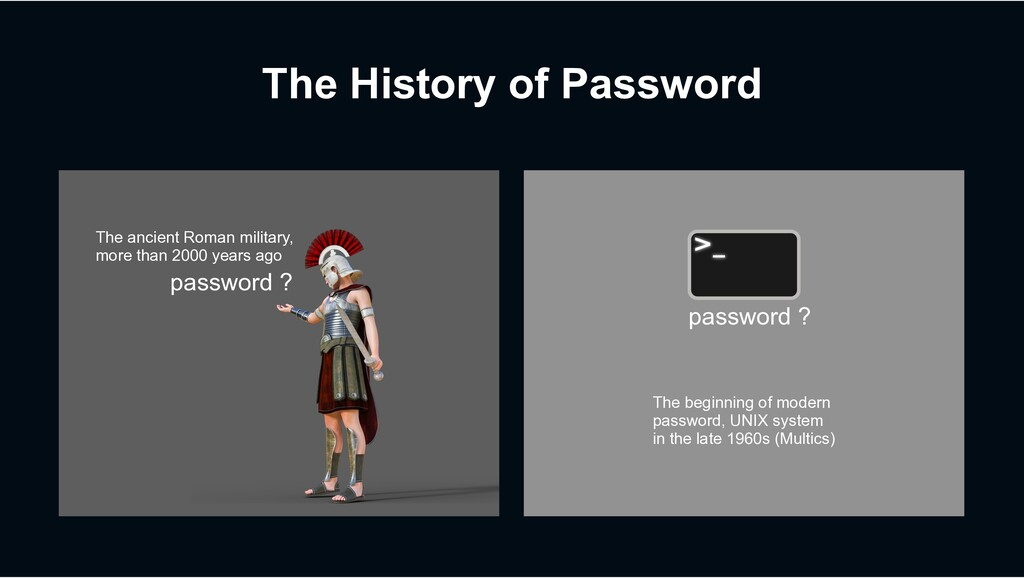 The History of Password password ? The ancient ...
