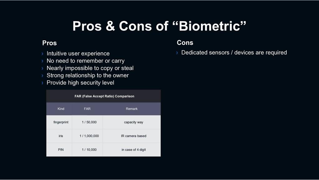 """Pros & Cons of """"Biometric"""" › Dedicated sensors ..."""