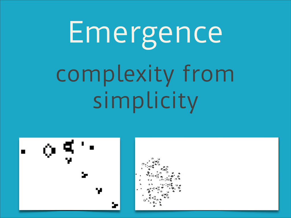 Emergence complexity from simplicity
