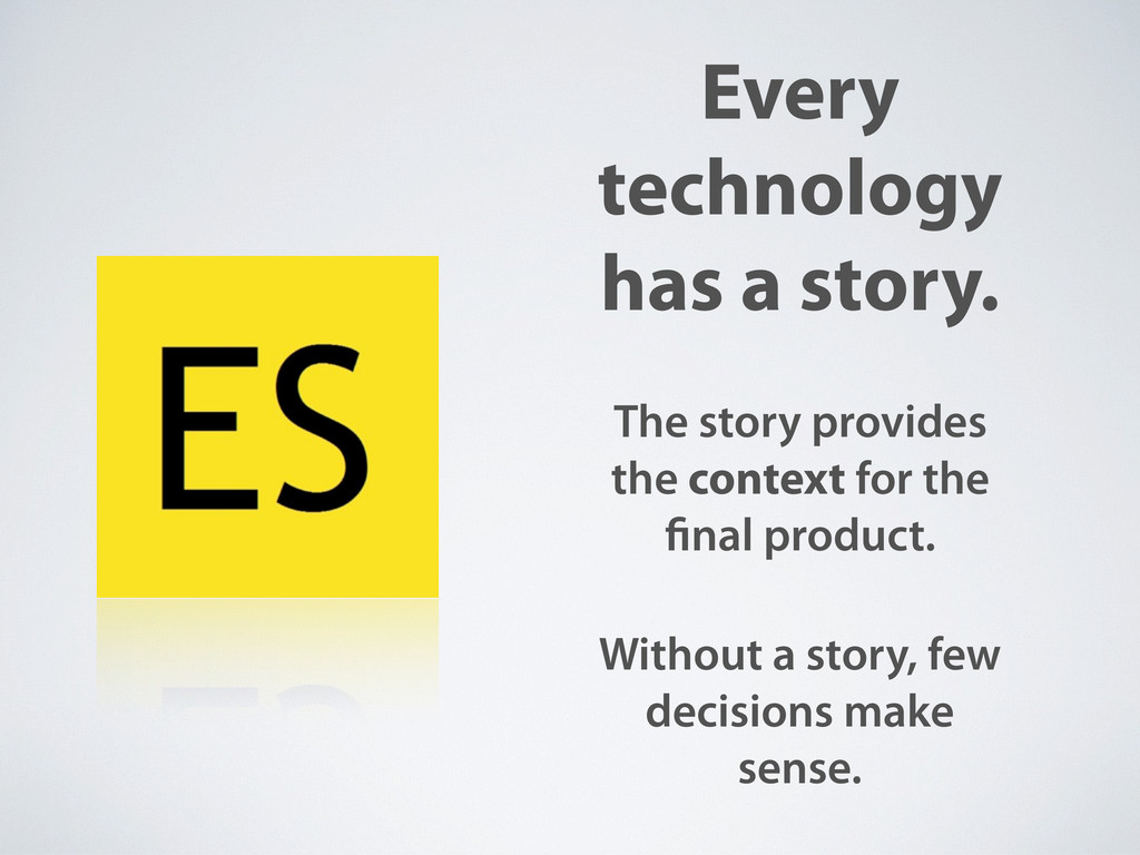 Every technology has a story. The story provide...