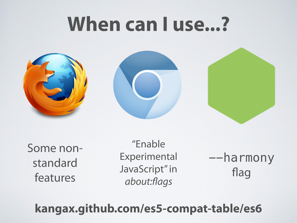When can I use...? kangax.github.com/es5-compat...