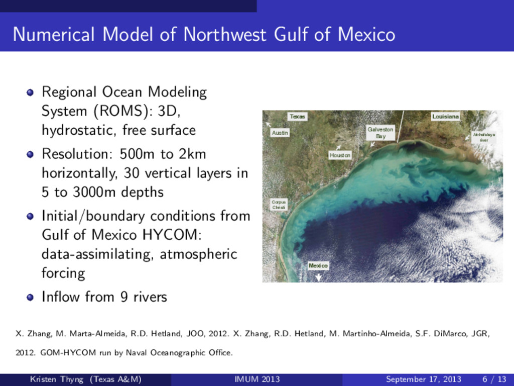 Numerical Model of Northwest Gulf of Mexico Reg...