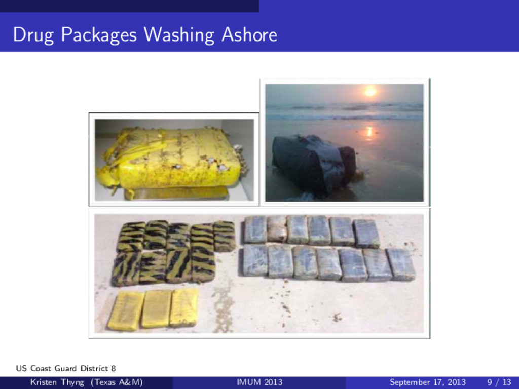 Drug Packages Washing Ashore US Coast Guard Dis...