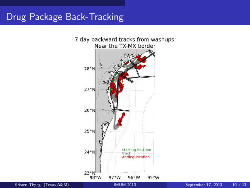 Drug Package Back-Tracking Kristen Thyng (Texas...