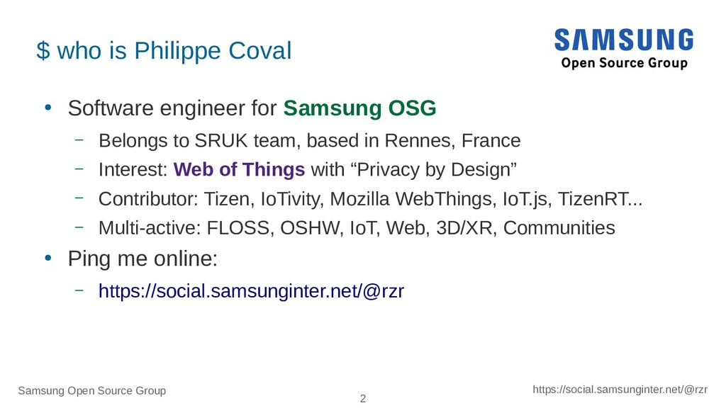 Samsung Open Source Group 2 https://social.sams...