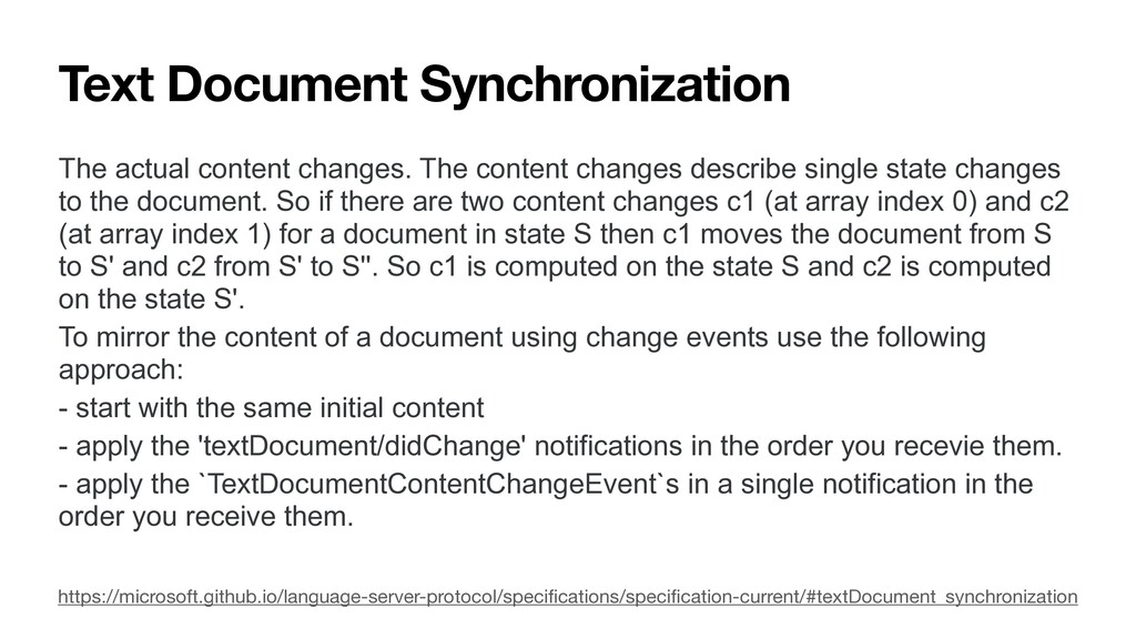 Text Document Synchronization The actual conten...