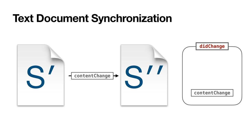 Text Document Synchronization S′ contentChange ...