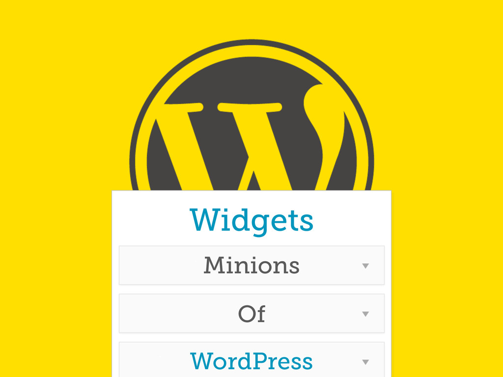 Widgets Minions Of WordPress