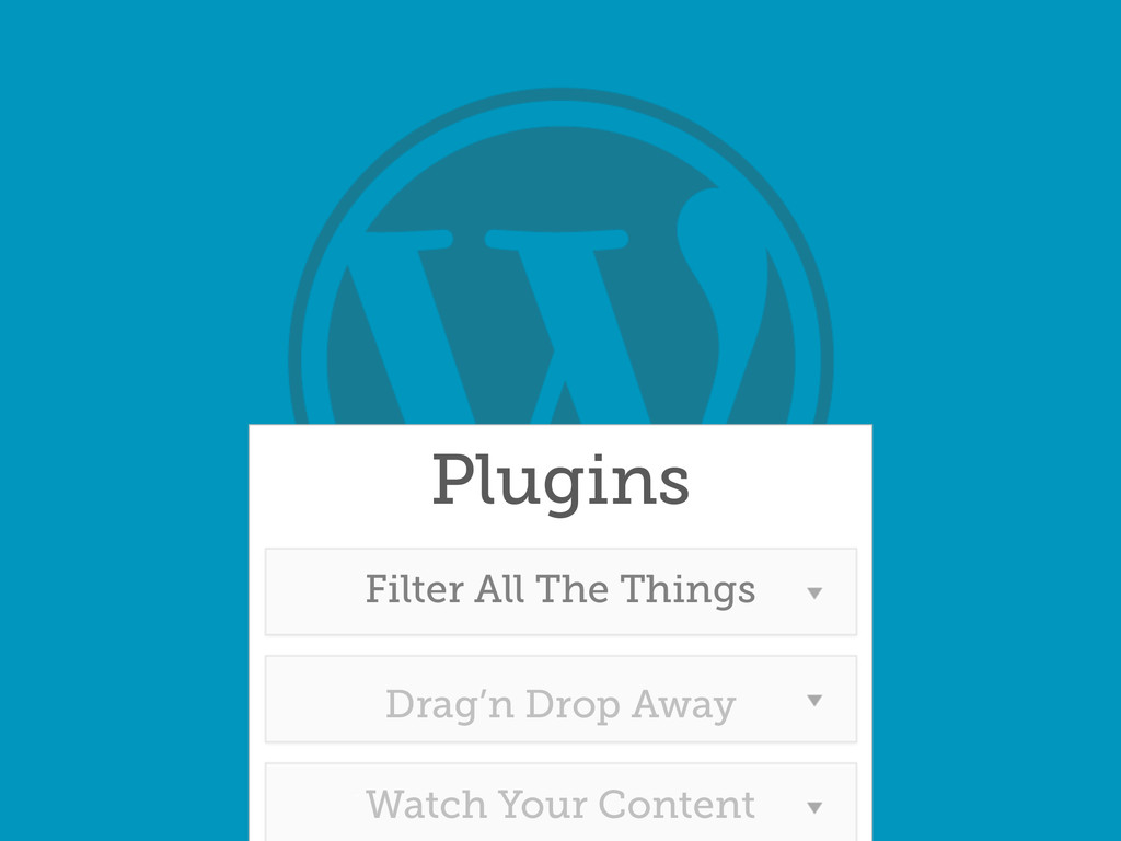 Plugins Drag'n Drop Away Filter All The Things ...
