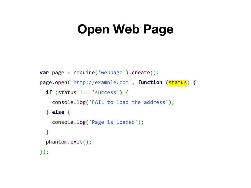 var page = require('webpage').create(); page.op...