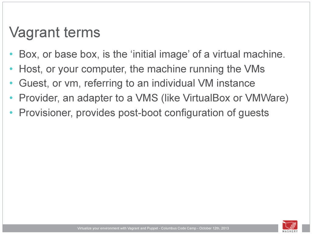 Virtualize your environment with Vagrant and Pu...