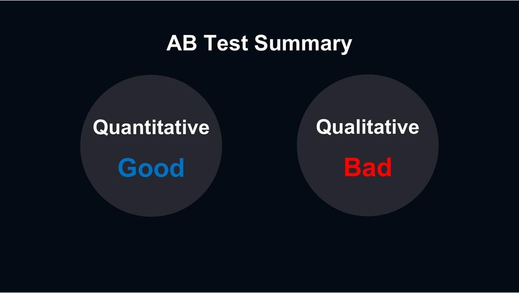 AB Test Summary Quantitative Good Qualitative B...