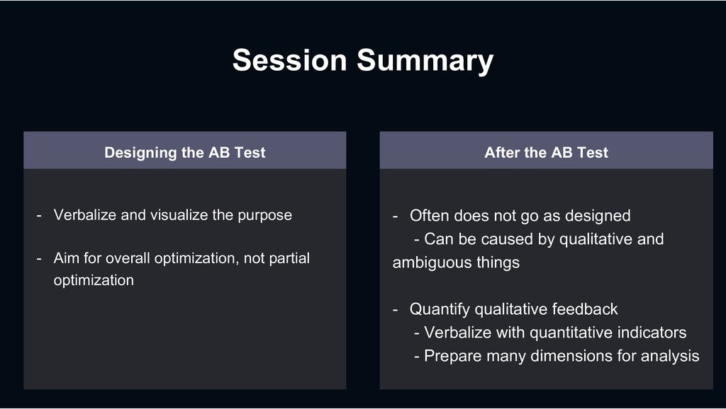 Session Summary Designing the AB Test - Verbali...