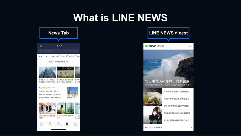 What is LINE NEWS News Tab LINE NEWS digest