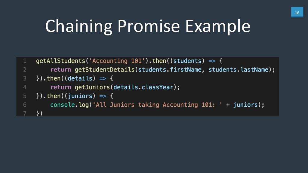 16 Chaining Promise Example