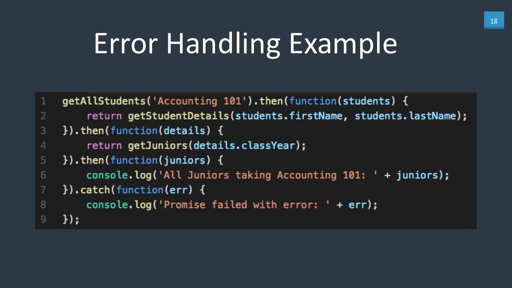 18 Error Handling Example