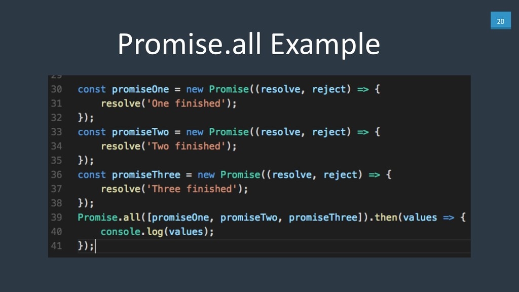 20 Promise.all Example