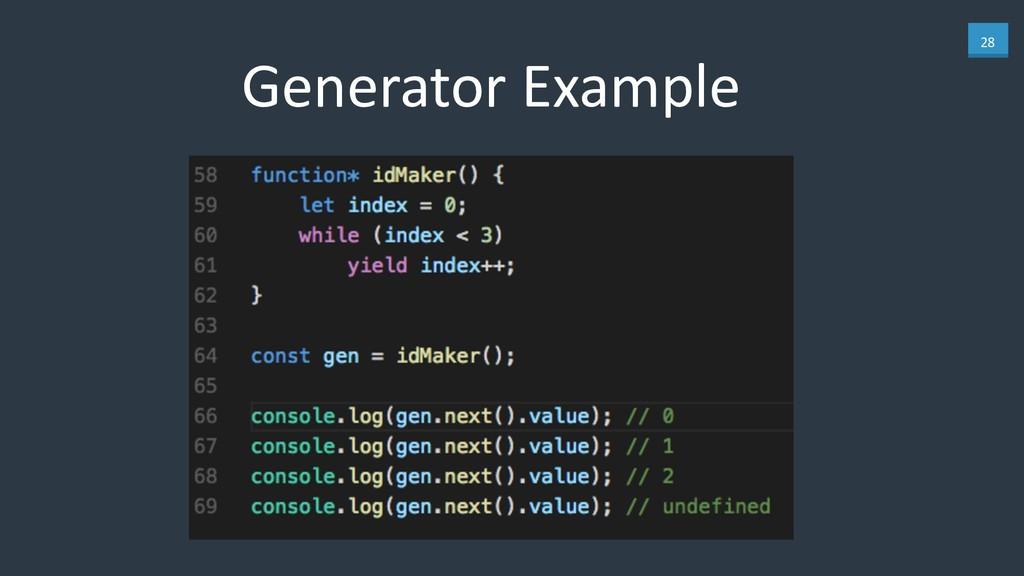 28 Generator Example